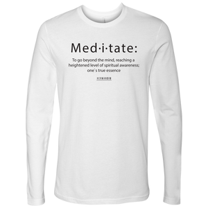 NEXT LEVEL MEN LONG SLEEVE BLACK MEDITATION