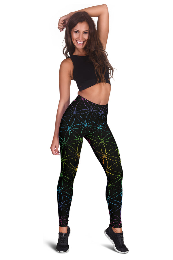 FLOWER OF LIFE PREMIUM YOGA LEGGINGS