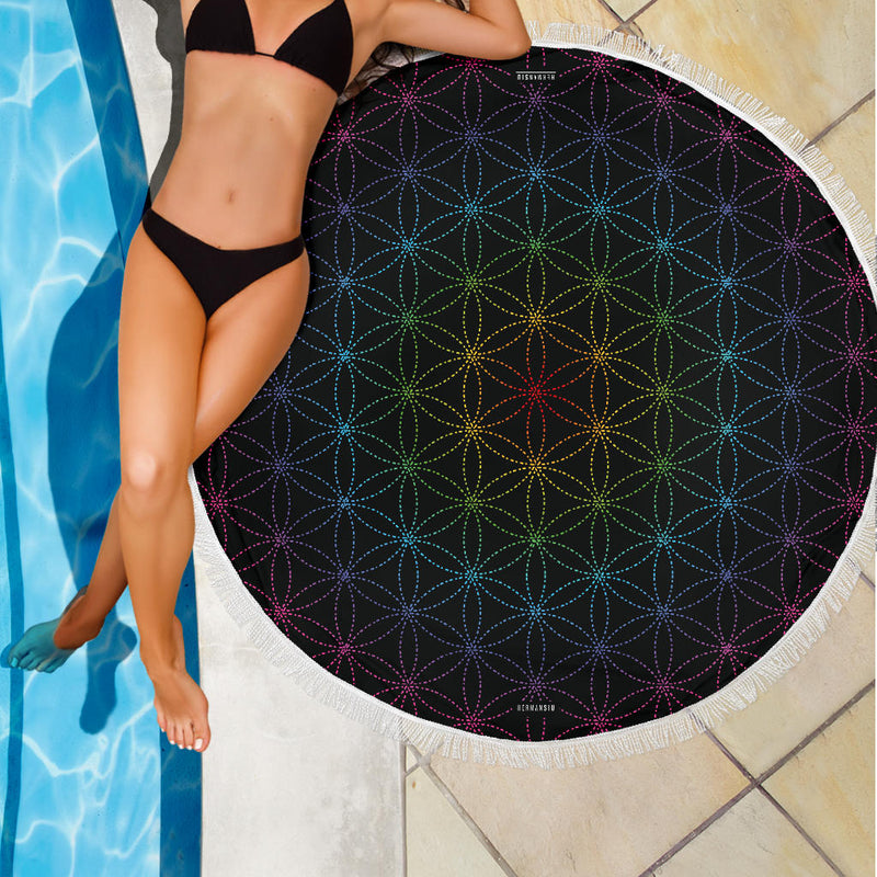 FLOWER OF LIFE MEDITATION / BEACH MAT