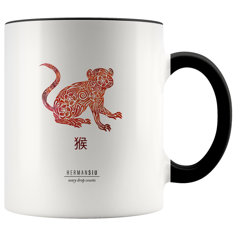 Monkey Zodiac Accent Mug