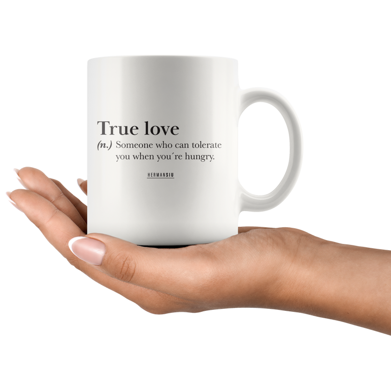 TRUE LOVE MUGS BLACK & WHITE
