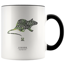 Rat Zodiac Accent Mug
