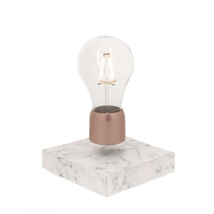 Levitating light bulb - white marble - PÆR Design