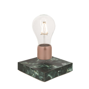 Levitating light bulb - black marble - PÆR Design