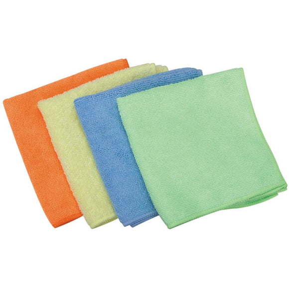4 Pcs Microfibre Cleaning Cloths Size 30 x 30cm Each For Home Kitchen Cars Furniture