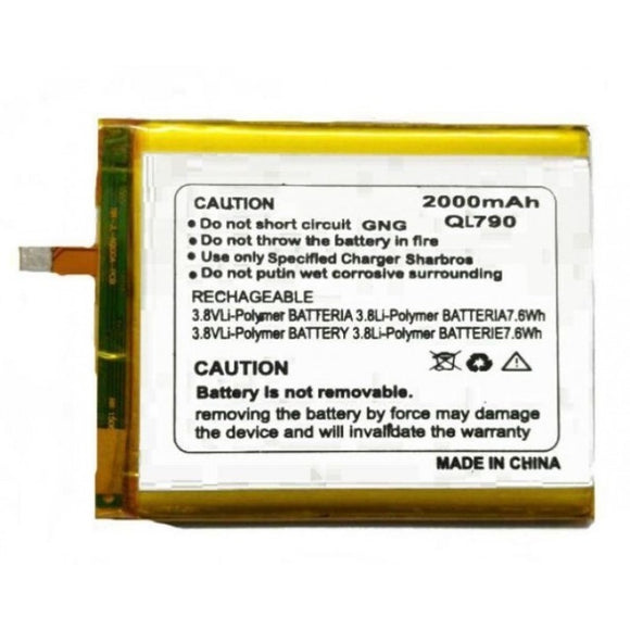 2000mAh Battery for Micromax Yu Younique QL790