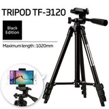 3120 Tripod Foldable Portable Camera Stand with Mobile Clip Holder Bracket