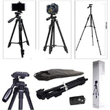 3388 Mobile Phone DSLR Camera Tripod With Camera Clip Holder Selfie Trigger