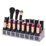 24 Compartment Lipsticks Stand Acrylic Makeup Organizer