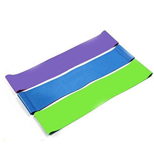 Resistance Bands Workout Pilates Yoga Rehab Physical Therapy Thai Exercise Muscle Toning Loops - Set of 3