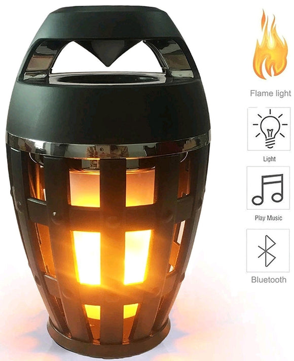 Led Flame Bluetooth Speakers 4.2 Wireless Portable Flame Flickers Night Lights