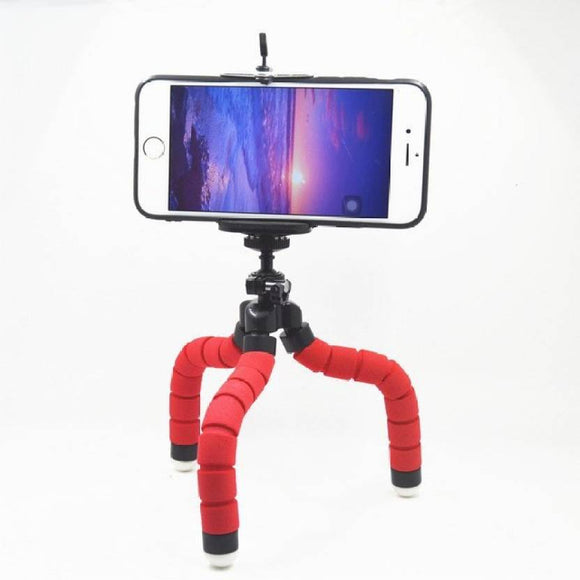 Octopus Tripod with Universal Monopod Mount Clip Flexible Mobile Holder