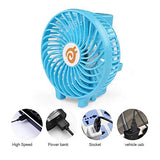 Foldable Handy Fan Mini USB Rechargeable With Torch