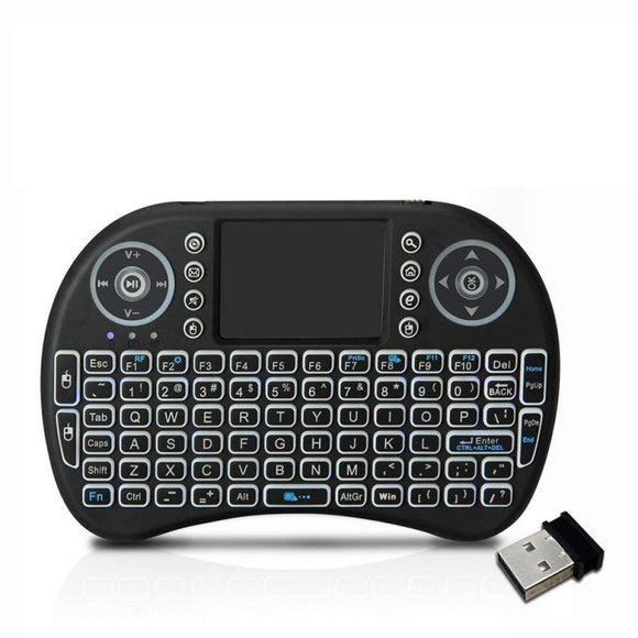 i8 Mini Wireless Keyboard and Mouse Touchpad with Backlight
