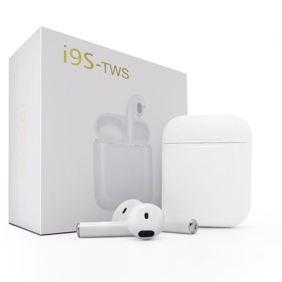 i9S TWS Bluetooth Stereo Wireless Earbuds Headset with Mic