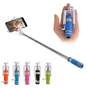 Mini Selfie Stick for All Smartphones with Aux Cable