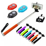Selfie Stick With Bluetooth Remote Monopod Extendable For Mobiles