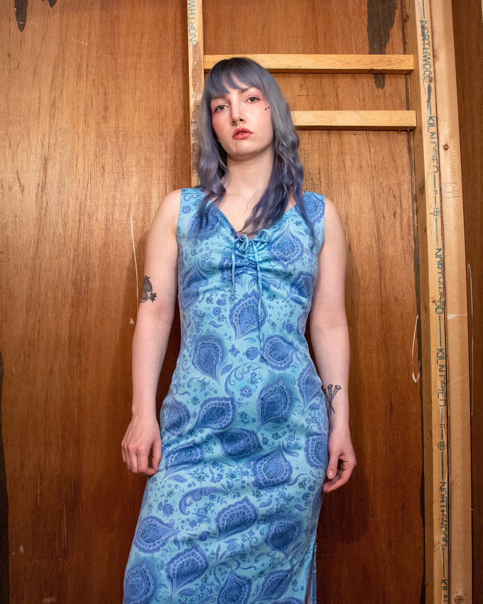 MEDIUM/LARGE Vintage 90s Paisley Maxi Dress