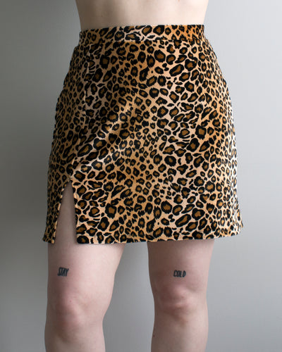 Buffy Mini Skirt in MILF Leopard