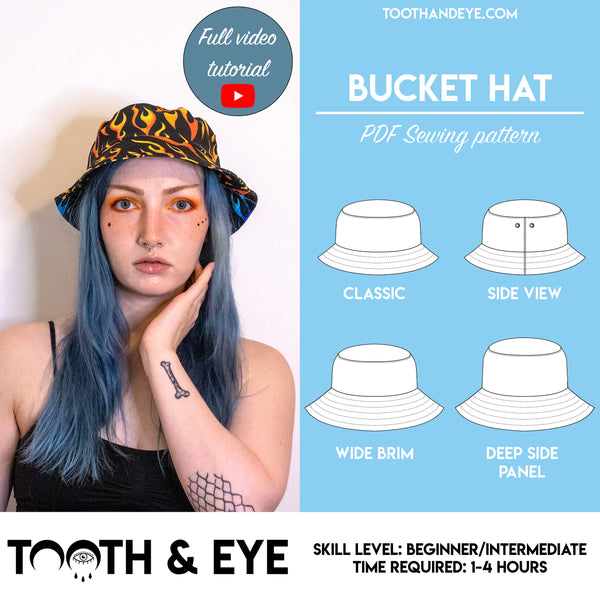 PDF Sewing Pattern - Bucket Hat