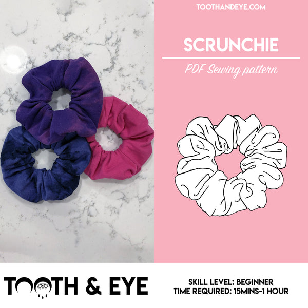 PDF Sewing Pattern - Scrunchie