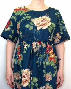 S-L Sage Smock Dress in Blue Floral