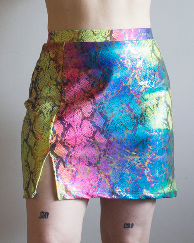 SAMPLE Size Medium Buffy Mini Skirt in Tripped Out Snake