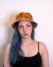 Load image into Gallery viewer, Orange Holo Snake Print Vegan Bucket Hat
