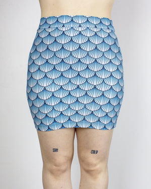 MEDIUM Arctic Sea Witch Printed Bodycon Mini Skirt