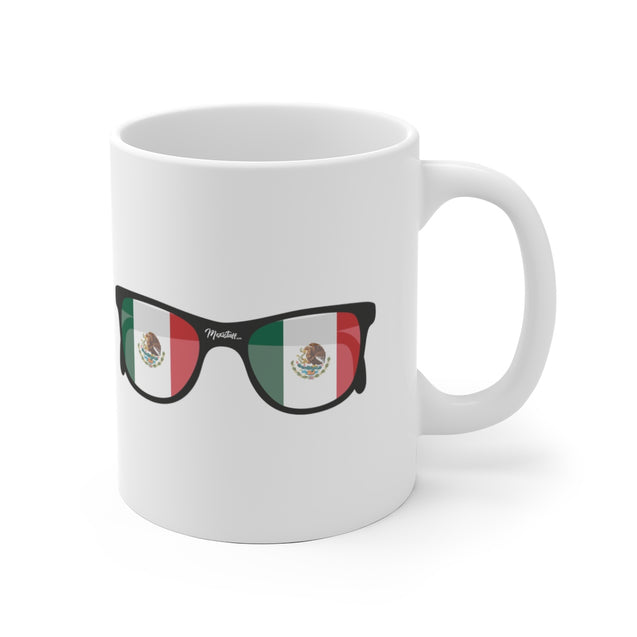 Mexican Flag Sunglasses Mug