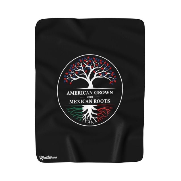 American Grown With Mexican Roots Blanket