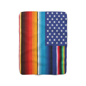 Serape USA Flag Blanket