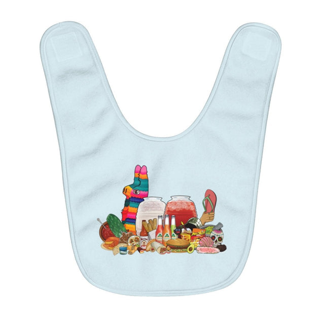 Mexistuff Fleece Baby Bib (Blue)
