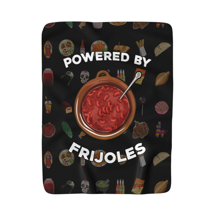 Powered by Frijoles Blanket (Black)
