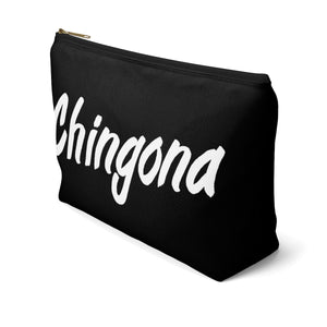 Chingona Accessory Pouch w T-bottom (Black)