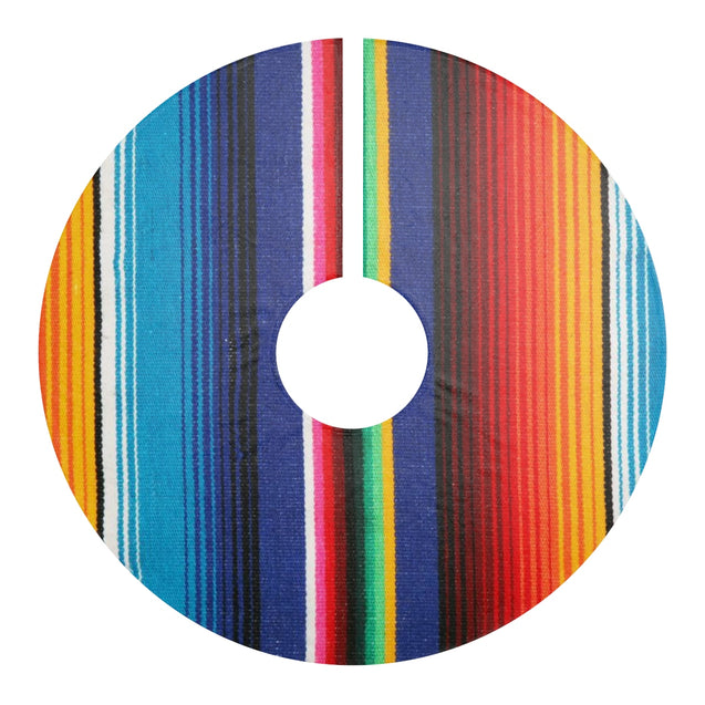 Serape Christmas Tree Skirt (Green)