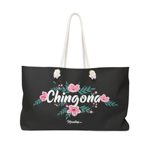 Chingona Flowers Weekender Bag