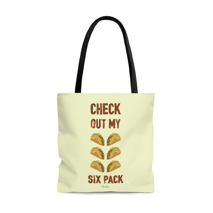 Check Out My Sixpack Tote Bag