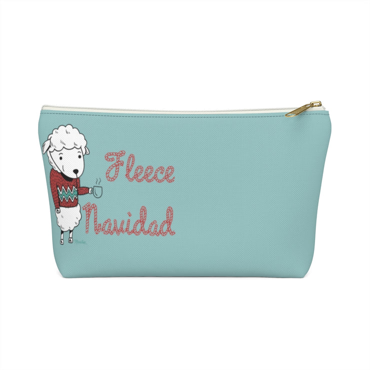 Fleece Navidad Accessory Bag
