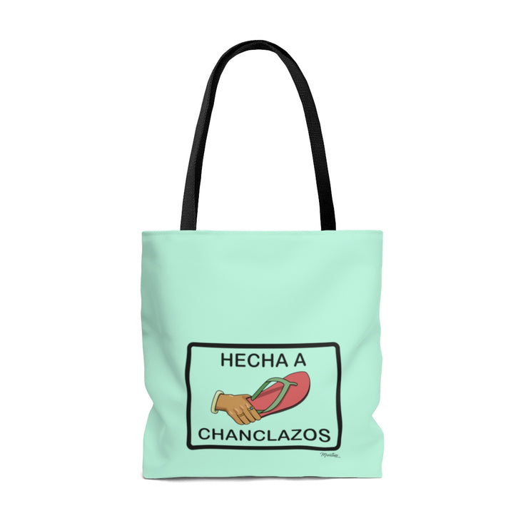 Hecha A Chanclazos Tote Bag