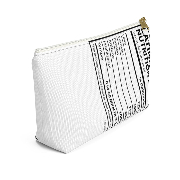 Latina Nutritional Facts Accessory Bag