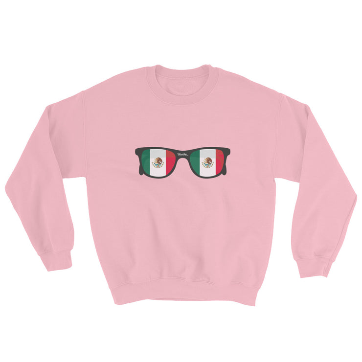 Mexican Flag Sunglasses Unisex Sweatshirt