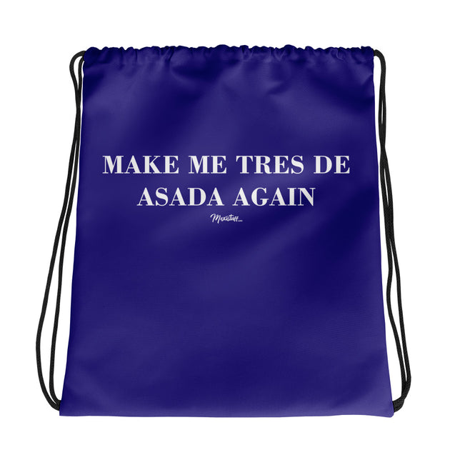 Tres de Asada Again Drawstring bag