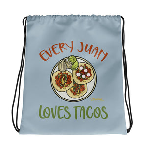 Every Juan Loves Tacos Drawstring bag
