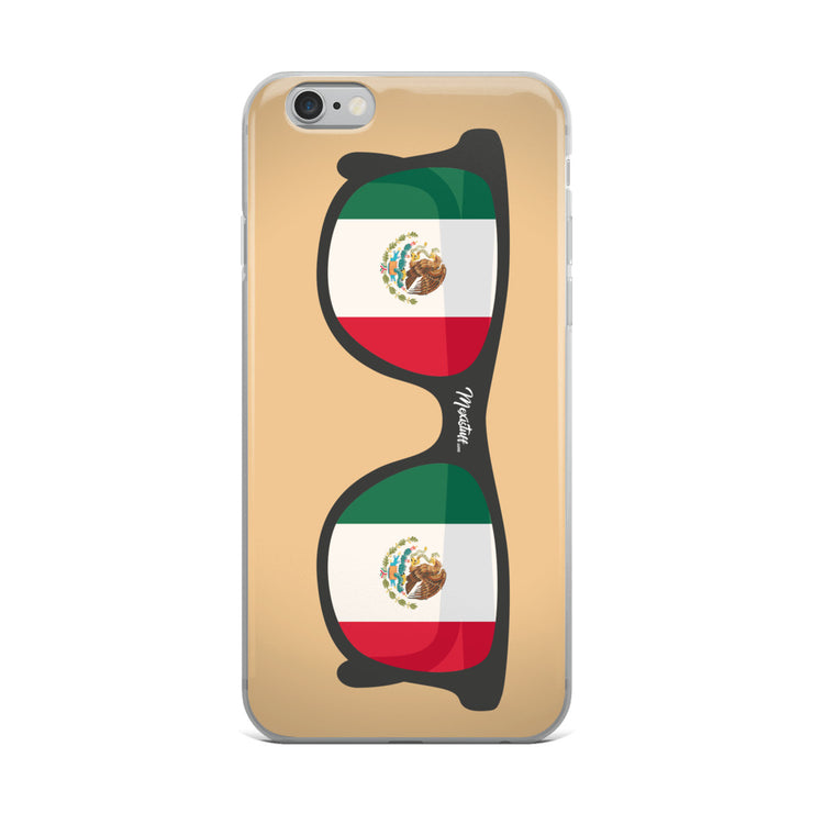 Mexican Flag Sunglasses iPhone Case