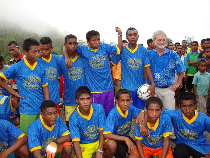Supporting schools and soccer in Timor