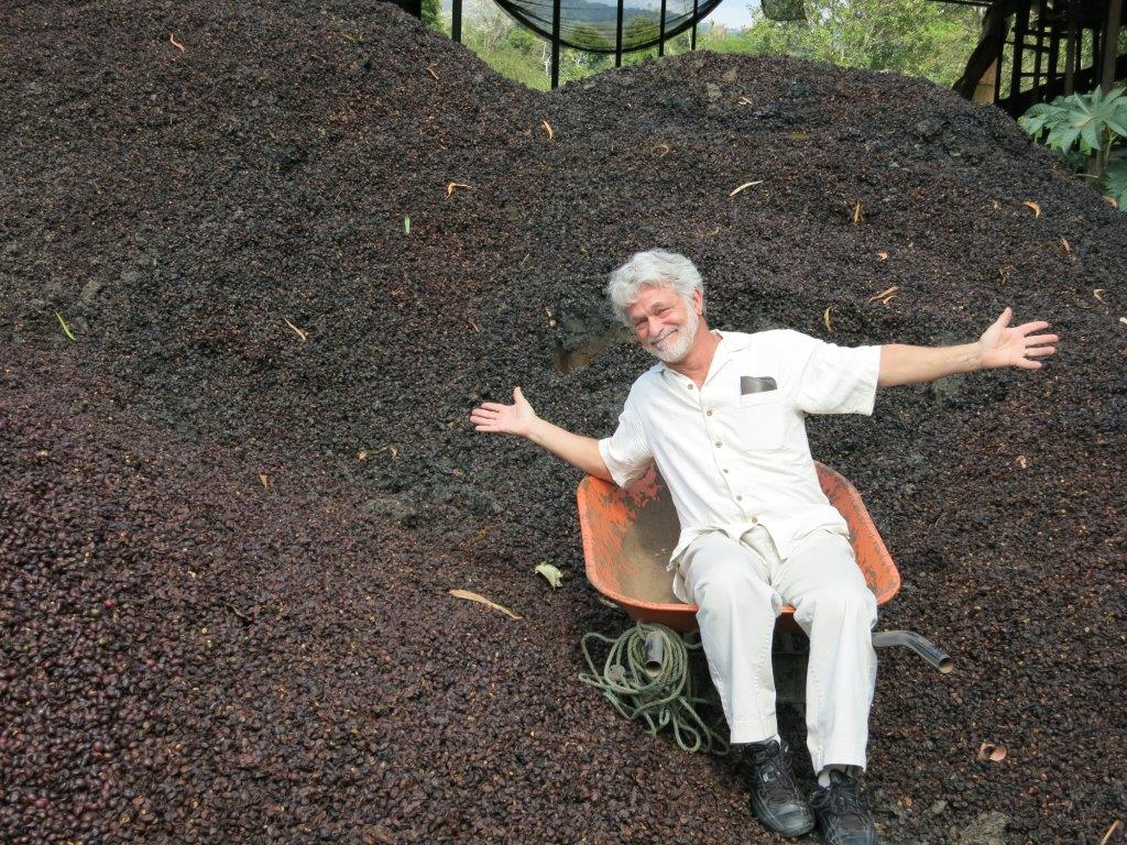 Dean demonstrates our love for compost!