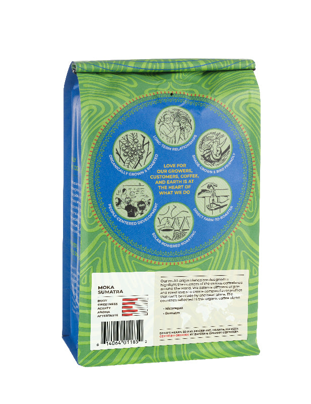 Moka Sumatra Coffee - Back Label