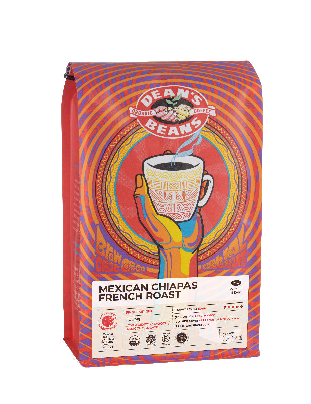 Mexican Chiapas French Roast Coffee - Front Label