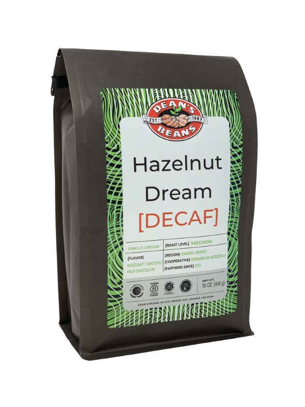 Hazelnut Dream Decaf Coffee - Front Label